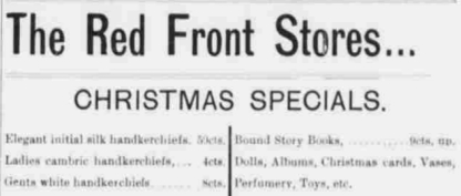 Dec 1894 Red Front Stores