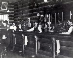 1905 log cabin saloon
